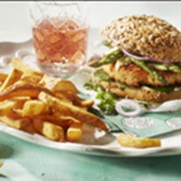 Salmon burger with Pure & Rustic thumbnail