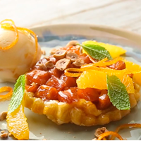 Tarte tartin Sweet Potato orange